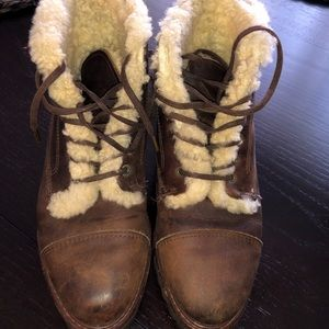 Ralph Lauren🇺🇸 leather shearling sportsman boots